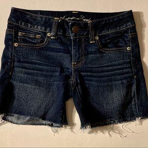 American Eagle Cut Off Denim Shorts size 2